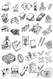 pengar för symbol för samlingsdrawhand Fotografering för Bildbyråer
