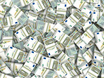 pengar Fem euro royaltyfri illustrationer