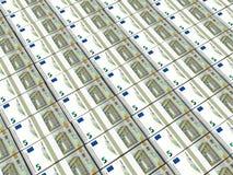 pengar Fem euro stock illustrationer