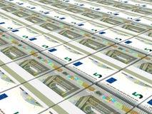pengar Fem euro vektor illustrationer