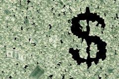 Pengar formar dollartecknet royaltyfri illustrationer