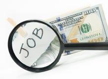 Pengar från jobb arkivfoto