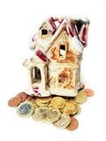 Pengar för hus Arkivfoton
