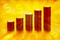 pengar gagnar rikedom Arkivfoton