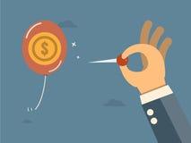 Pengar i ballong Arkivbilder
