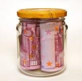 Pengar i banken Royaltyfria Bilder