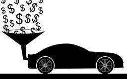 Pengar i bil Arkivbilder