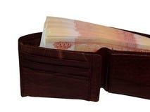 Pengar i din plånbok på 5000 rubel Arkivfoton