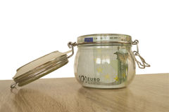 Pengar i en bank Royaltyfri Bild