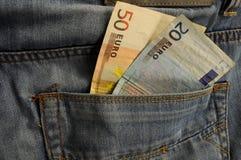 Pengar i fack Royaltyfria Foton