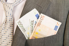 Pengar i facket Royaltyfri Foto