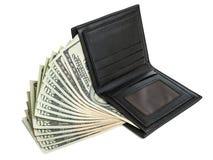 Pengar i plånbok Royaltyfri Foto