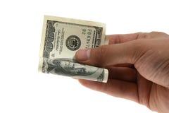 Pengar i räcka Fotografering för Bildbyråer
