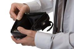 pengar ingen handväska Royaltyfri Bild