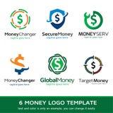 Pengar Logo Template Design Vector Royaltyfri Foto