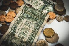Pengar och ekonomibegrepp royaltyfria foton