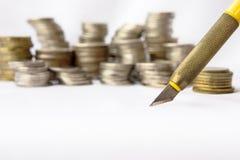 Pengar och konst Fotografering för Bildbyråer