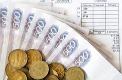 Pengar och räkningar Royaltyfri Foto