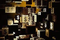 Pengar och rikt begrepp royaltyfri illustrationer