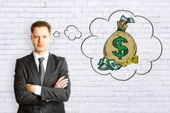 Pengar och rikt begrepp royaltyfri fotografi