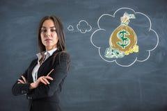 Pengar och rikt begrepp royaltyfria foton