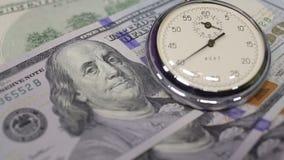 Pengar och tar tid på lager videofilmer