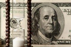 Pengar och tid Fotografering för Bildbyråer
