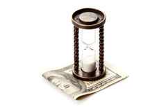 Pengar och tid Royaltyfri Bild