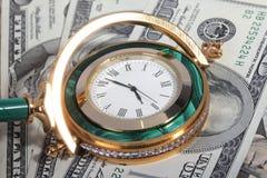 Pengar och Tid Royaltyfria Foton