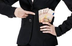 Pengar på facken arkivbilder