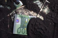 Pengar på jordningen arkivbilder