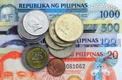 pengar philippines royaltyfria foton