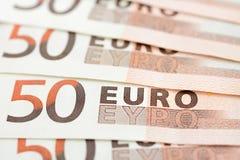 Pengar räkningar för eurovaluta (EUR) Royaltyfria Bilder
