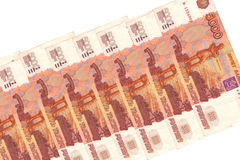 pengar russia 5000 rubel Arkivfoto