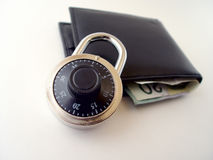 pengar säkrar ditt arkivbilder