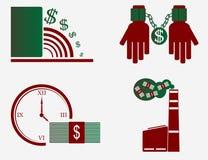 Pengar skadar Arkivbild