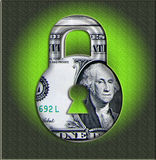 pengar skyddar ditt stock illustrationer