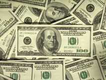 pengar som mer min portfölj ser Arkivbilder