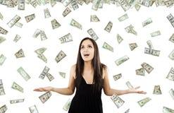 pengar som regnar s Royaltyfria Foton