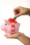 pengar sparar Fotografering för Bildbyråer