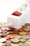 pengar sparar av switching Royaltyfria Foton