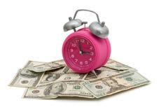 pengar sparar tid till Fotografering för Bildbyråer