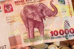 Pengar Sri Lanka Bill Coins Arkivbilder