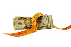 pengar tight fotografering för bildbyråer