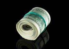 Pengar till amerikanska dollar Arkivbild