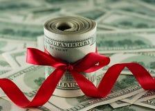 Pengar till amerikanska dollar Fotografering för Bildbyråer