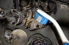 Pengar tvättar royaltyfri fotografi