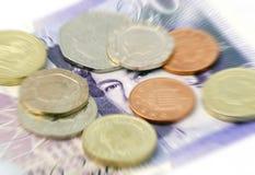 pengar uk Arkivbild