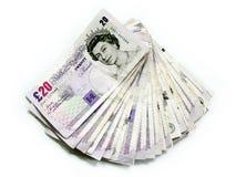 pengar uk Royaltyfri Fotografi