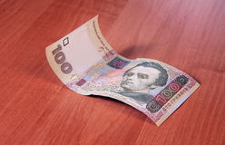 Pengar Ukraina Hryvnia för anmärkning hundra Royaltyfri Foto